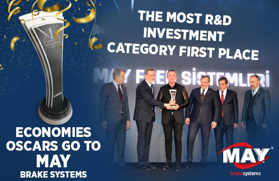 Economies Oscars, First Prize Company award for the most R+D Investment goes to MAY Brake Systems.